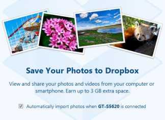 Automatically upload media files to dropbox