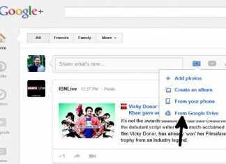 Share Google Drive photos on Google+