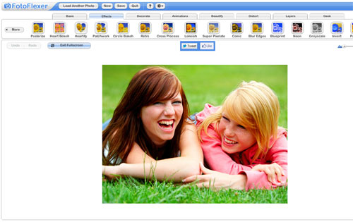 FotoFlexer free online photo editing