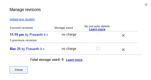 Older Versions of Files in Google Drive