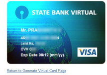 How to Create State Bank Virtual Card [SBI e-Card]