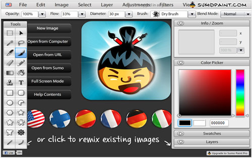 Sumo Paint - best free online photo editor