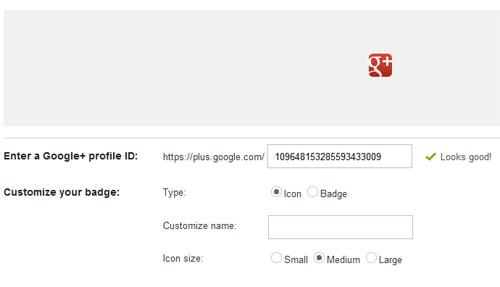Google+ Profile widget or button