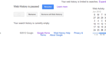 Pause, Stop or Remove Google Web or Search History and Stop Getting Personalized Searches