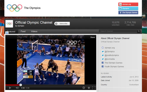 Olympics 2012 live on youtube