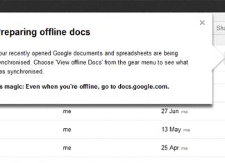 Prepare Google Docs Offline