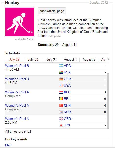 London Olympics 2012 Sch