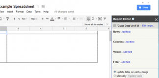 Summarize Data in Google Doc Spreadsheet - Step 1