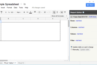 How to Create a Pivot Table Report to Summarize Data in Google Doc Spreadsheet