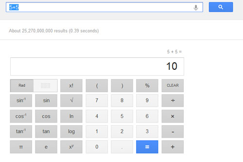 Scientific Calculator Google Search
