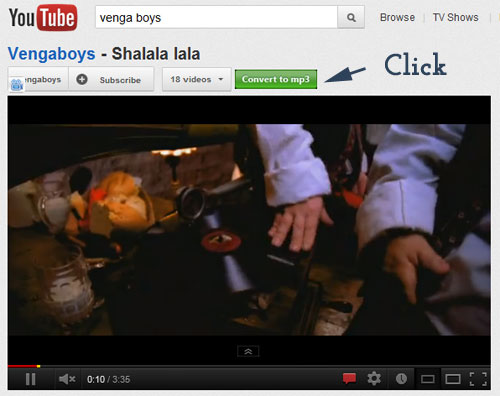 convert and download youtube videos as MP3s with an extension of Chrome