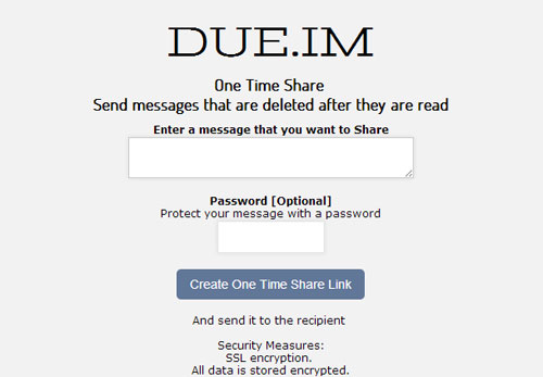 how to securely send email messages using due.im