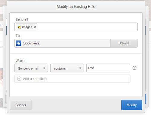 edit autofiling rule in gmail