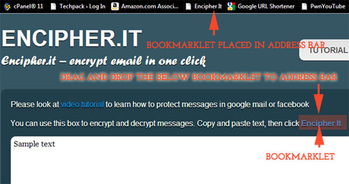 how to encrypt email or facebook message by your own