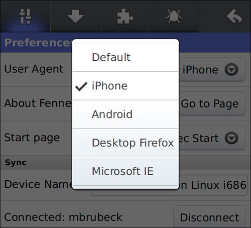 phony add-on for Firefox for android