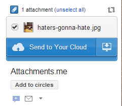 send gmail attachment to SkyDrive or to your any cloud
