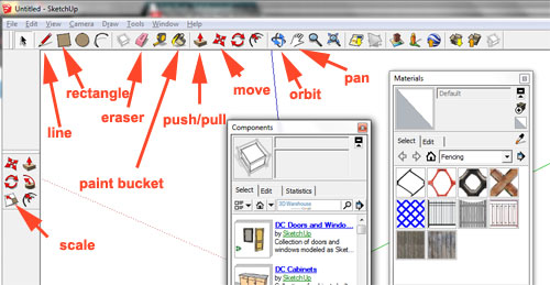 necessary sketchup8 tools