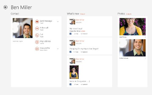 Skype metro app for Windows 8