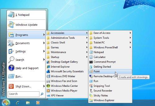 classic shell Windows 8 startmenu