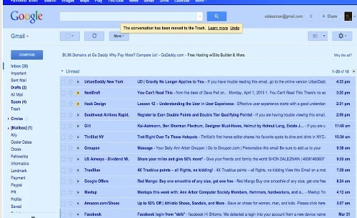 Gmail Blue in Reality