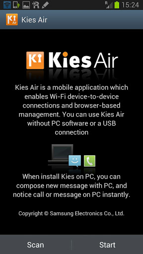 Kies Air Wireless Connection