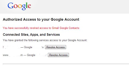revoke google account access