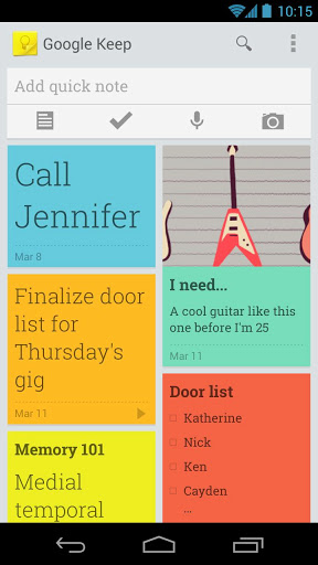 Google Keep Colorful Notes