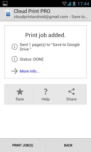 cloud print for android