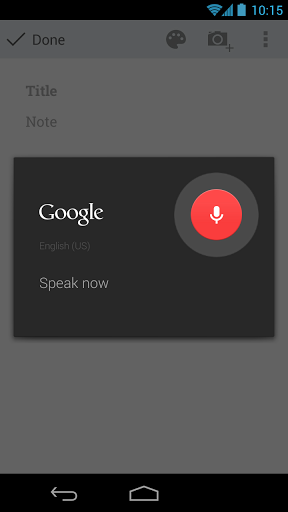 Google Keep Voice Note Taking