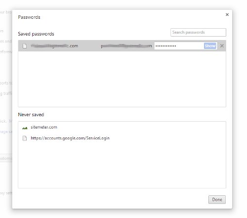 Chrome see passwords