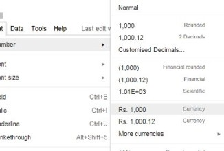 How to Get Your Own Country's Currency Format in Google Doc Spreadsheet