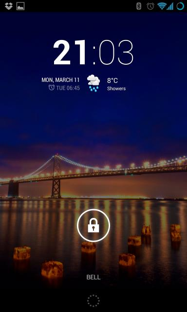 CyanogenMod custom ROM lock screen