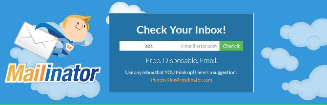 mailinator one time use email address