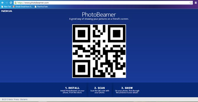 PhotoBeamer for Lumia is a mobile photo projector