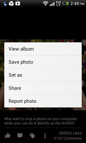 Download Photos on Facebook Android App Without Any Additional Tool
