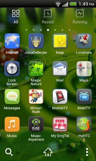 GO Launcher EX app drawer view