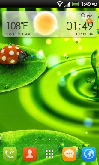 GO Launcher EX home screen