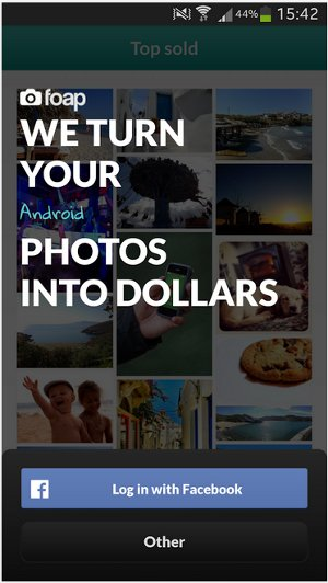 sell photos on android