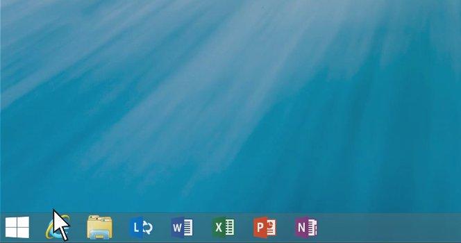 Windows 8.1 Start Button view