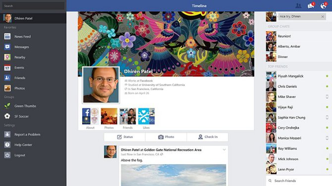 Windows 8.1 Gets Official Facebook App