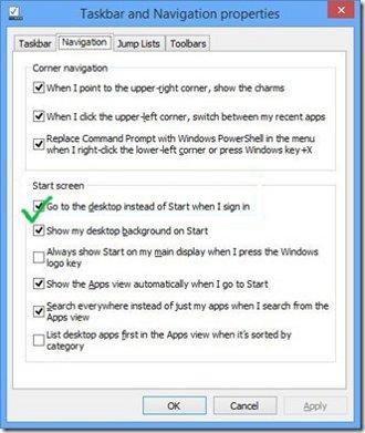 login in to windows 8.1 desktop