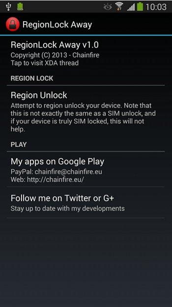 region lock