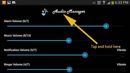 Hide Apps Hidden in Audio Manager