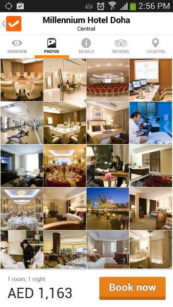 Cleartrip hotel search