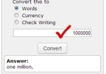 Convert Any Numbers to Currency or Words Online