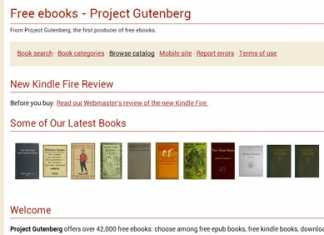project guttenberg - Top Websites Which Offer Free eBooks