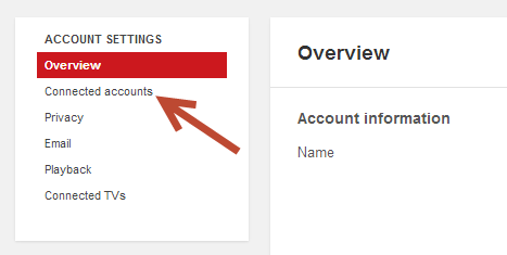 YouTube Connected Accts
