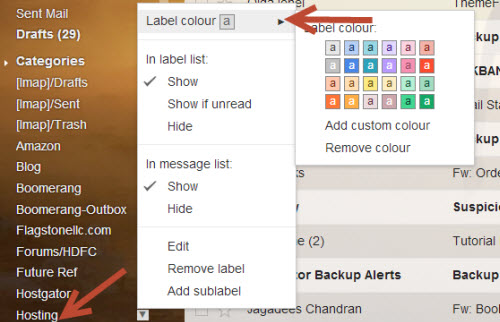 label color in Gmail