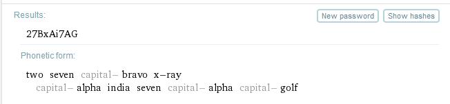 wolfram passwords phonetic form