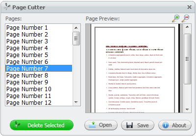 delete pages from PDF